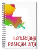 Louisiana State Map Collection 2 Spiral Notebook