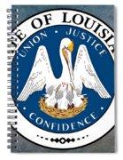 Louisiana State Seal Spiral Notebook