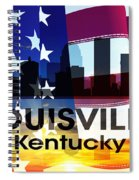 Louisville Ky Patriotic Large Cityscape Spiral Notebook