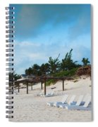 Lounge Chairs And Parasol On Pink Sands Spiral Notebook