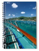 Lounge Chairs On Cruise Ship Spiral Notebook
