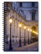 Louvre Lampposts Spiral Notebook