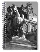 Louvre Man On Horse Spiral Notebook