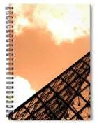 Louvre Pyramid Top Edited Spiral Notebook