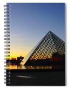 Louvre's Last Light Spiral Notebook