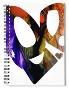 Love 1 - Heart Hearts Romantic Art Spiral Notebook