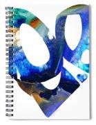 Love 4 - Heart Hearts Romantic Art Spiral Notebook
