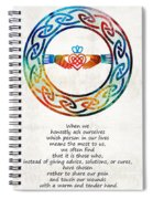 Love And Friendship Art By Sharon Cummings Spiral Notebook