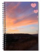 Love And Sunset Spiral Notebook