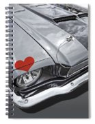 Love At First Sight - '66 Mustang Spiral Notebook
