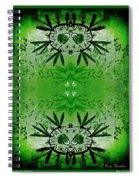 Love Blossom Nature Green Border Spiral Notebook