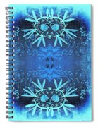 Love Blossom Ocean Turquoise Border Spiral Notebook