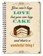 Love Cake Typography Spiral Notebook