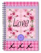 Love Cherry Blossom Spiral Notebook