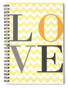 Love Chevron Yellow Spiral Notebook