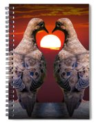 Love Dove Birds At Sunset Spiral Notebook