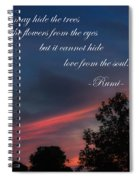 Love From The Soul Spiral Notebook