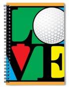 Love Golf Spiral Notebook