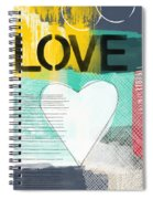 Love Graffiti Style- Print Or Greeting Card Spiral Notebook