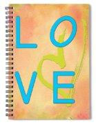 Love In Bright Blue Spiral Notebook