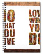 Love In Life Acrylic Palette Knife Painting Spiral Notebook