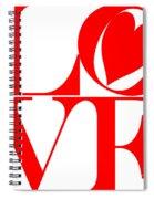 Love In Red Spiral Notebook