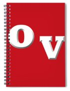 Love In White On Red Spiral Notebook