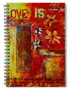 Love Is Abstract Spiral Notebook