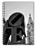 Love Is Just Black And White Spiral Notebook