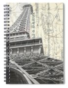 Love Letter From Paris Square Spiral Notebook