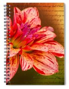 Love Letter To Dahlia Spiral Notebook