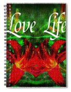 Love Life Mirrored Lilies Spiral Notebook