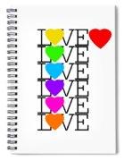 Love Love Love Spiral Notebook