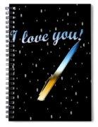 Love Message Digital Painting Spiral Notebook