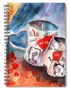 Love Mugs Spiral Notebook