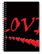 Love On Black Spiral Notebook