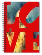 Love On Fire Spiral Notebook