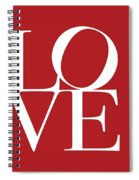 Love On Red Spiral Notebook
