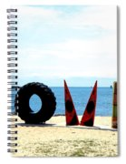 Love On The Beach Found Art Outer Banks Spiral Notebook