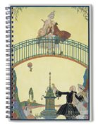 Love On The Bridge Spiral Notebook
