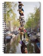 Love Padlocks In Amsterdam Spiral Notebook