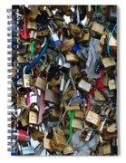 Love Padlocks On Pont Des Art Spiral Notebook