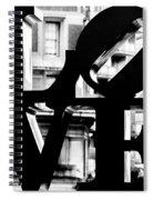 Love Philadelphia Black And White  Spiral Notebook