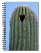 Love Shack Saguaro With A Heart Spiral Notebook