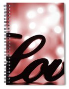 Love Sign With Red Sparkle Spiral Notebook
