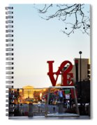 Love Statue And The Art Museum Spiral Notebook