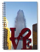 Love Statue In Philadelphia Pa Spiral Notebook