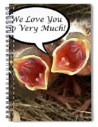 Love You Greeting Card Spiral Notebook
