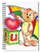 Love You Teddy Bear Spiral Notebook