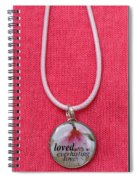 Loved With An Everlasting Love Pendant Spiral Notebook